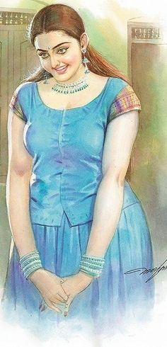 Indian Women Painting, Indian Art Paintings, Sexy Painting, Painting Of Girl, Indian Natural Beauty, Indian Photoshoot, Female Art, Art Girl, Clothes For Women