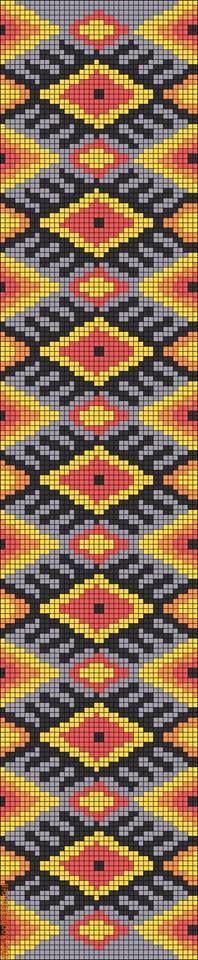 Alpha friendship bracelet pattern added by indian tribal diamond band. Tapestry Crochet Patterns, Crochet Stitches Patterns, Macrame Patterns, Stitch Patterns, Free Crochet Bag, Filet Crochet, Wiggly Crochet, Motif Fair Isle, Tribal Images