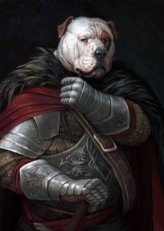 bulldog by Maria Zolotukhina on ArtStation. Fantasy Races, Fantasy Rpg, Medieval Fantasy, Fantasy Character Design, Character Inspiration, Character Art, Arte Furry, Furry Art, Fantasy Characters