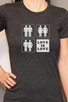 Hey, I found this really awesome Etsy listing at https://www.etsy.com/listing/151761487/love-is-love-lesbian-t-shirt-gay-pride