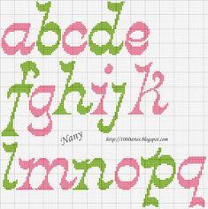 Gráfico Alfabeto - Ponto Cruz - VilaClub