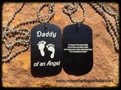 BLACK - DADDY OF AN ANGEL Dog Tags