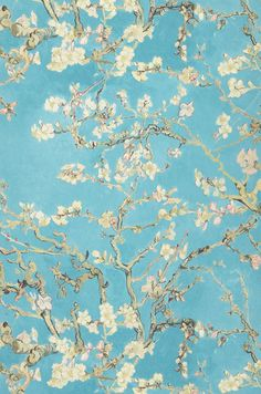 VanGogh Blossom | Carta da parati floreale | Motivi di carta da parati | Carta da parati degli anni 70