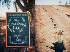 Chalkboard Wedding Sign, Floral Lantern Decor // LVL Weddings & Events // Photography: Tyler Branch Photo // Videography: EK Media Productions // Catering: Above it All Catering // Venue: Private Estate, Rancho Palos Verdes // Rentals: Signature Party Rentals // Floral Design: Green Leaf Designs // Beauty: Design Visage // DJ: Steve Burdick Events // Transportation & Valet: VIP Limousines & Coaches