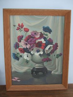 Vintage Framed Poppy Bouquet Paint By Number by jessamyjay on Etsy