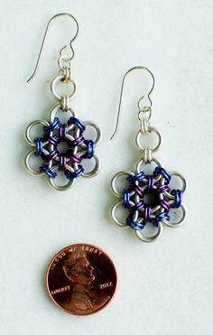 Sterling Silver Japanese Flower Garden Earrings by DaisiesChain, $45.00