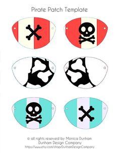 Party Hats, Cupcake Wrappers, & Pirate Patches: Modern Pirate Party {INSTANT DOWNLOAD} Dunham Design Company