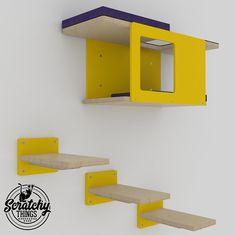 Wally Mini Bundle Tunnel & 3x1-Step Cat shelf #cats #etsy #etsyshop