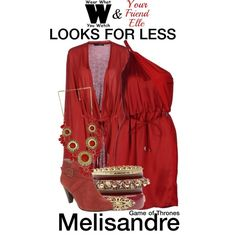 A looks for less inspired by Carice van Houten as Melisandre on Game of Thrones.