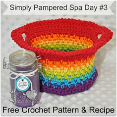 Simply Pampered Spa Day #3 - Free Pattern & Recipe