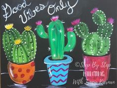 How To Paint Cactus On Black Canvas - Step By Step Painting Cactus Drawing, Cactus Painting, Whale Painting, 3d Painting, Canvas Letters, Painted Letters, Hand Painted, Acrylic Canvas, Canvas Art