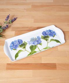Blue Hydrangea Sandwich Tray