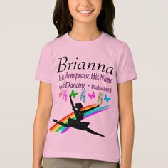 #BALLET DANCER PRAISE HIS NAME PERSONALIZED T SHIRT - #cool #kids #shirts #child #children #toddler #toddlers #kidsfashion