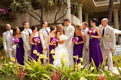 Love the colors and this wedding party picture