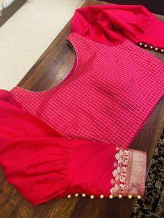 Blouse Designs High Neck, Cotton Saree Blouse Designs, Hand Work Blouse Design, Simple Blouse Designs, Stylish Blouse Design, Stylish Dress Designs, Blouse Neck Designs, Blouse Patterns, Fancy Sarees Party Wear