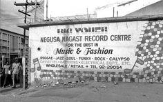 Big Youth's record shop, NEGUSA NAGAST RECORD CENTRE, in Kingston © Syphilia Morgenstierne