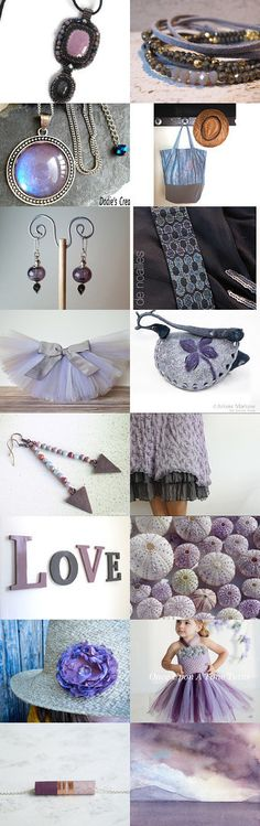 Pantone Spring 2016 Lilac Gray by Guilaine Grémy on Etsy--Pinned+with+TreasuryPin.com