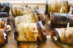 Grillezett cukkini- és padlizsántekercs sajttal töltve Recept képpel - Mindmegette.hu - Receptek Pesto, Mozzarella, Turkey, Chicken, Recipes, Food, Jewellery, Clothing, Fashion