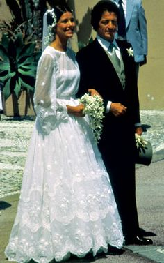 Princess Carolin of Monaco on her wedding to commoner and French playboy Philipe Junot in 1978.