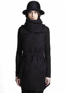 Ann Demeulemeester Funnel Collar Coat on shopstyle.com