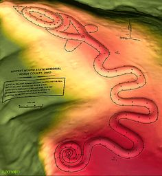 Serpent Mound may be older than previously thought! New radiocarbon dating indicates over 2000 years old.