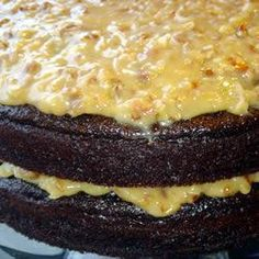 Glaçage noix de coco-pacanes pour gâteau au chocolat allemand @ qc.allrecipes.ca