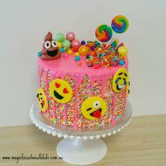 My Favourite Townsville Cakes November 2017 . Below I have listed my favourite cakes in Townsville that I created in November HAPPY BIRTHDAY 10 Birthday Cake, 11th Birthday, Emoji Cake, Salty Cake, Diy Cake, Girl Cakes, Savoury Cake, Cupcake Cakes, Cake Decorating