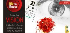 #DidYouKnow  Restore Your Vision & Get Rid of those Glasses with this one Ingredient!  There is an easier and healthier way to improve your vision and it is called Saffron. With the help of Saffron you can improve macular degeneration that can cause blindness.  More than 90 illnesses can be treated with saffron.  Saffron has a big amount of antioxidant carotenoids, crocin and crocetin, acting with its antioxidative, cellular and neuro-protective properties.