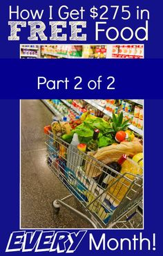 """Lower your grocery bill EVERY month with this proven system! I use it EVERY month to """"buy"""" $275 (or more!) in FREE Groceries! Part 2 of this post will show you how I get the low prices that make it all possible!"""