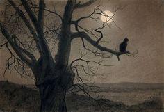 Theophile-Alexandre Steinlen (1859-1923), Chat au Clair de Lune, c. 1900