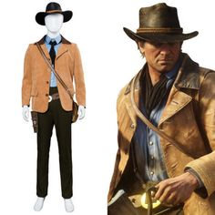 ad4b0ff0d5a Red Dead Redemption II 2 Arthur Morgan Cosplay Costume Gunslinger Outfit  Suit q  reddeadredemption