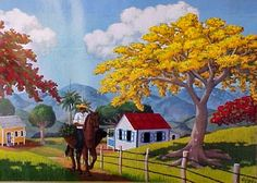 "life in the countryside (""Jíbaro a Caballo"" by Luis Cajiga)"