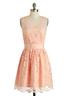 ModCloth #peach #lace
