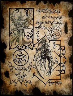 Fisionomia de los ashura, relaciónes entre diferentes ashuras de diferentes laberintos. estudios prohibidos