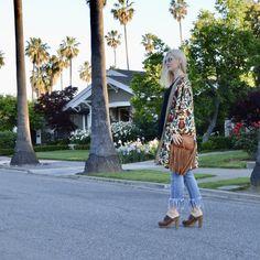 Groovy Kimono, Wearing Boho Over 40 - Fashion Should Be Fun, boho chic over 40, midlife style, festival style over 40, 70's inspiration, kimono trend, fringe trend, trendy over 40