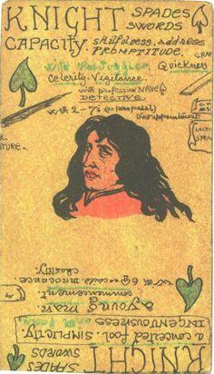 Austin Osman Spare Tarot - Knight of Swords