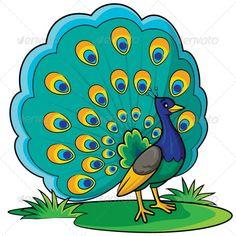 Peacock Cartoon - Animals Characters