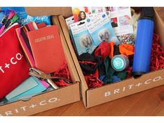 Brit Kits  subscribe for monthly kits of supplies to do crafts, fashion and such.  cool idea
