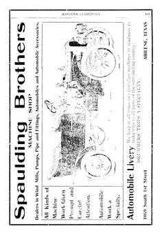 AWESOME 1907-08 ad for Spaulding Brothers in Abilene Directory