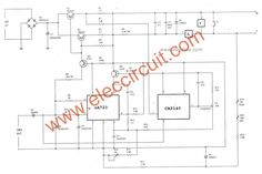 0-30V 5A variable benchtop power supply circuit,Output voltage 0-30V and Current 5A max. Use IC LM723 is a voltage regulator designed primarily for series