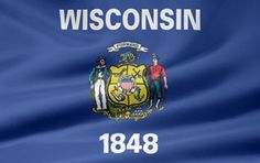 Picture of the Wisconsin state flag.
