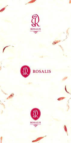 Rosalis - Logo Design Process by Luka Balic, via Behance