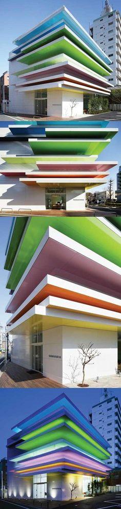 Sugame Shinkin Bank by Tokyo-based French architect Emmanuelle Moureaux