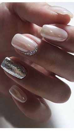 Bridal Nail Art Designs for Women in 2019 - Page 12 of 20 Elegant Nail Designs, Elegant Nails, Nail Art Designs, Pedicure Designs, Fall Manicure, Bridal Nail Art, Wedding Nails Design, Super Nails, Nagel Gel