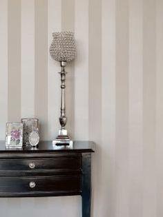 Rasch Textil Bistro Tapete Vlies Block- Streifen champagner creme Deko 326108 - Vorschau
