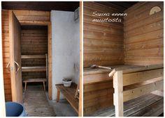 Kuluneen mökkisaunan muutos pelkällä pintakäsittelyllä   Local Artisan Villa, Bathtub, Artisan, Standing Bath, Bathtubs, Fork, Bath, Bath Tub, Villas