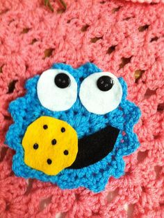 Crochet Applique ~ Cookie Monster