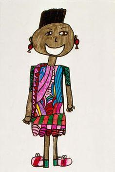 How to teach self portrait & figure drawing to Kindergarten