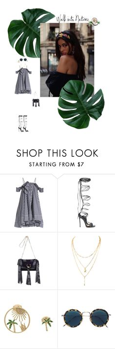 """DID HE ?!"" by beautywithinn ❤ liked on Polyvore featuring MSGM, Dsquared2, J.W. Anderson, Yvonne Léon and Eyevan 7285"