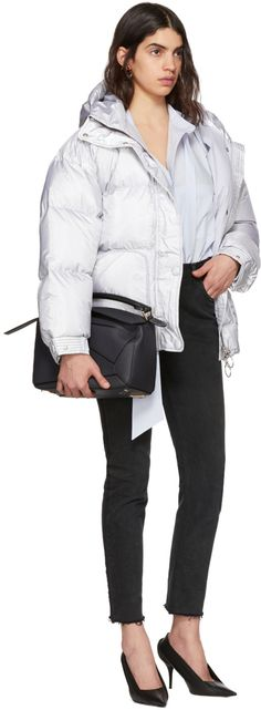 Ienki Ienki - Silver Michlin Belted Down Puffer Jacket